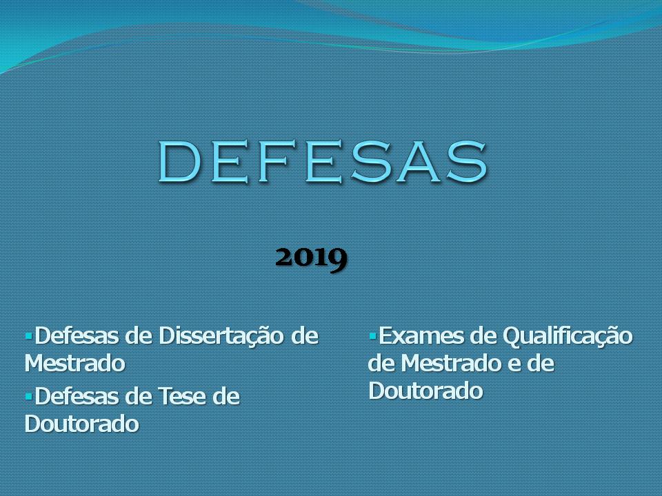 Defesas 2019